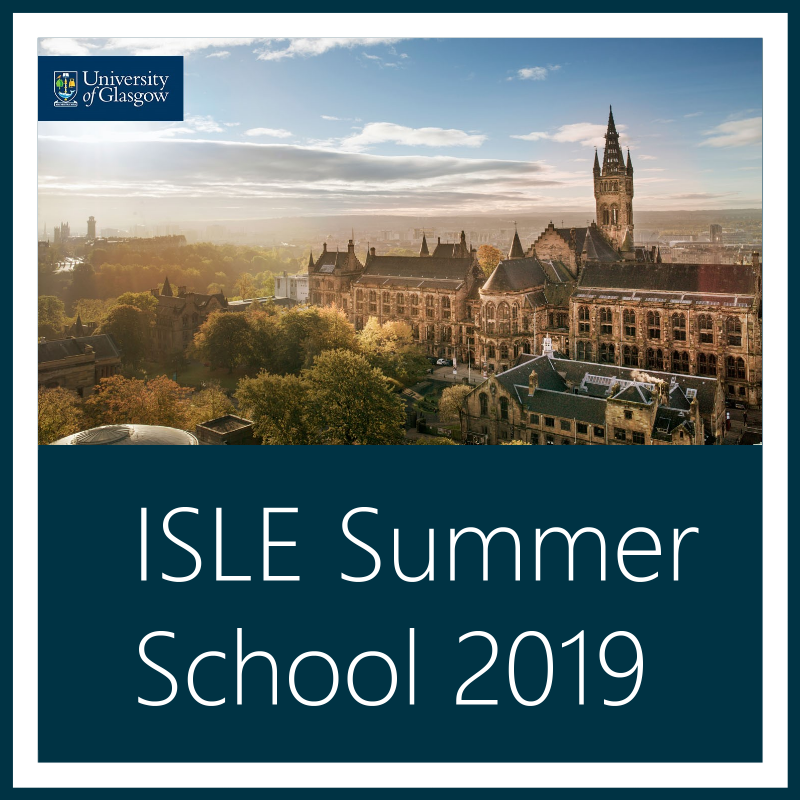 ISLE Summer School 2019: Using the Past to Explain the Present